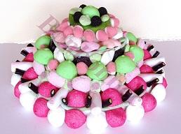 Gateau bonbons: piece montee